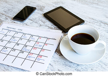 Checking monthly activities in the calendar - Checking...