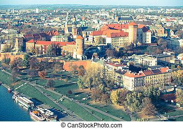 Wawel Castle in Krakow, Poland (film style)