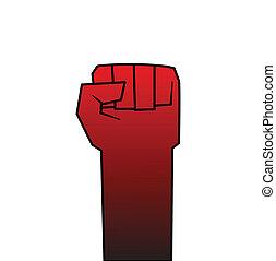 革命, 握りこぶし