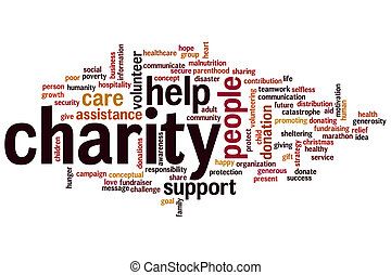 Charity word cloud - Charity concept word cloud background
