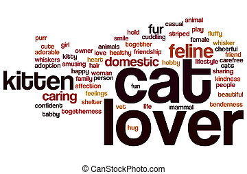 Cat lover word cloud - Cat lover concept word cloud...