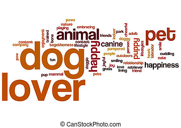 NAME word cloud - Dog lover concept word cloud background