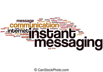 Instant messaging word cloud - Instant messaging concept...