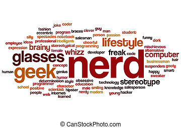 Nerd word cloud - Nerd concept word cloud background