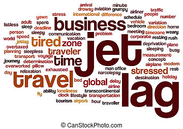 Jet lag word cloud - Jet lag concept word cloud background