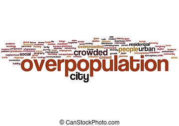 Overpopulation word cloud - Overpopulation concept word...