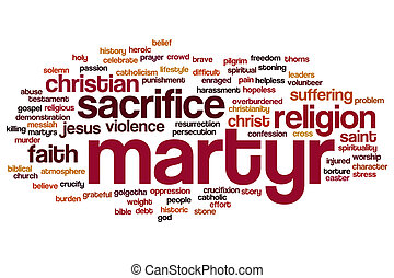 Martyr word cloud - Martyr concept word cloud background