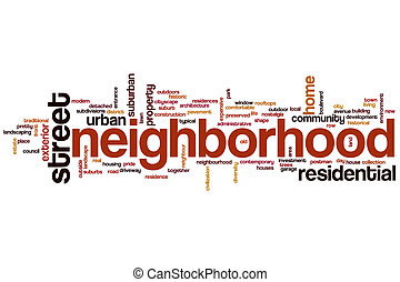 Neighborhood word cloud - Neighborhood concept word cloud...
