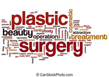プラスチック, 手術, 単語, 雲