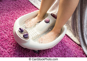 Foot bath massage