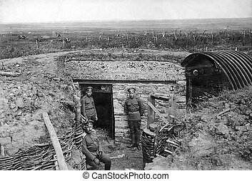 First World War photo - Old photo shows the soldiers in the...