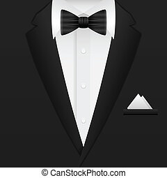 man suit background - Man formal suit background Vector...