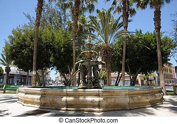 Fountain in Gran Tarajal, Canary Island Fuerteventura, Spain