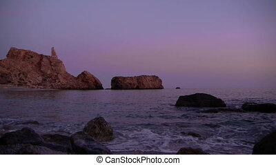 cliffs in southern Spain at dusk