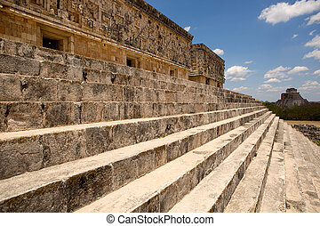 governors palace in Uxmal - stairs of the governors palace...