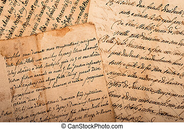 handwritings - old manuscripts written on old dirty sheets