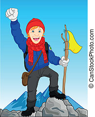 mountain climber - illustration of mountain climber