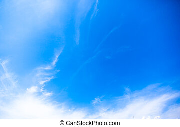 Blue sky, white clouds and sunshine