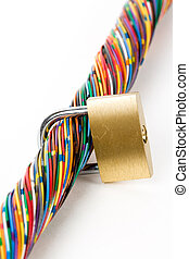 information security - Colorful Cable, Concept of...