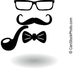 invisible hipster - Vector icon invisible hipster glasses...