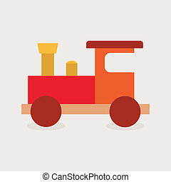 Train Toy - abstract cute toy on a white background