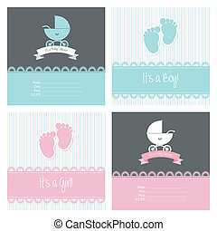 Baby Shower - abstract baby shower background with some...