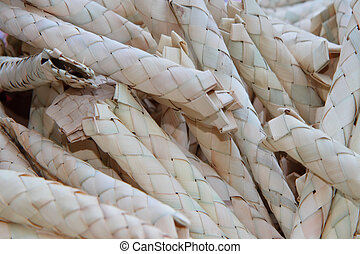 Wattled cases for ritual plants - Jewish autumn holiday of...