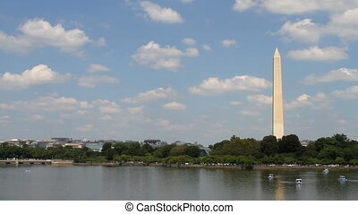 Washington Monument Skyline - Washington Monument located in...