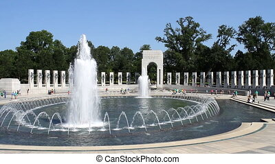 World War II Memorial located in Washington, DC honoring...