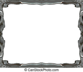 metalic style  abstract blurry smooth border frame