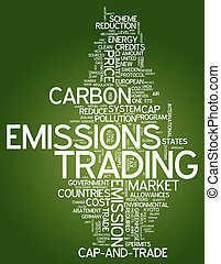 Word Cloud Emissions Trading - Word Cloud with Emissions...