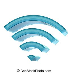 Wireless internet concept icon 3D - Wireless internet...