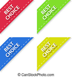 Set of Flat Signs Best Choice. Vector