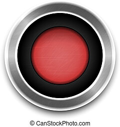 Red Button isolated. Vector
