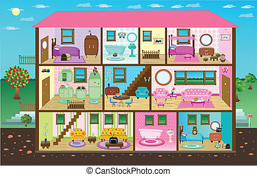 Cute Digital Doll House - virtual doll house, includes a...