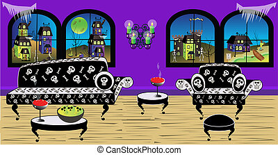 Where a Witch can relax - Haunted House Living Room