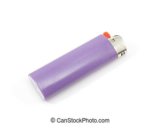 Lighter - A purple lighter isolated on a white background.