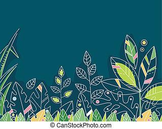 Rainforest Leaves Design