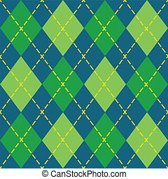 Colorful argyle seamless pattern - Modern flat design in...