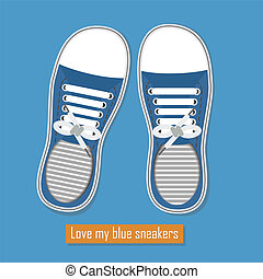 A pair of cute blue sneakers - Love my blue sneakers - A...