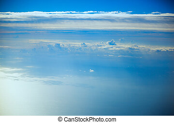 Sea of clouds, aerial photography - Sea of clouds, aerial,...
