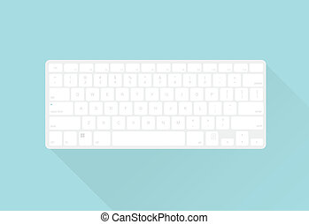 vector keyboard flat style illustration for web projects