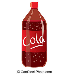 Cola Bottle - Vector illustration of cola bottle isolated on...