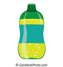 Green Lemonade Bottle - Vector illustration of green...