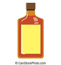 Orange Bottle - Vector illustration of orange bottle...
