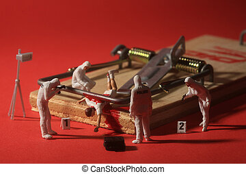 Tiny Miniature Scaled People in Curious Concepts - Miniature...