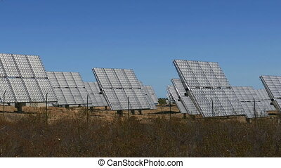 Field of Solar Panels Producing Environmentally Clean Energy