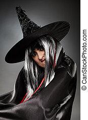 Sorcerer portrait - Tricky witch portrait, Halloween theme