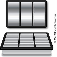 vector white air filter