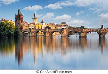 Carlo, ponte, Praga, ceco, repubblica